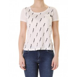 POCKET PRINT TEE GIRLS  BLANCA